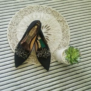 Badgley Mischka FLAWED INSOLE Jewel Point Flats
